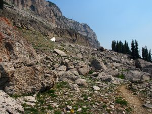 Climbing up the shelves - Teton Crest Trail - Two Guys in the Woods