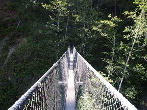 Bridge over Logan Creek - West Coast Trail 2015
