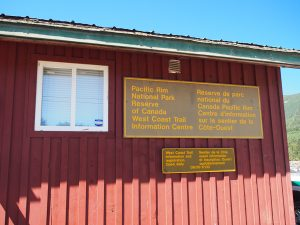 Pacific Rim National Park Info Centre - West Coast Trail 2015