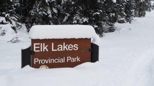 Welcoming sign - Elk Lakes Provincial park