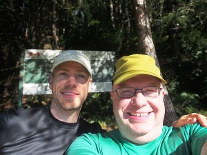 Dwarf and Elf - starting the trail - West Coast Trail 2015